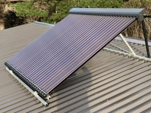 Solar Hot Water System on House Roof